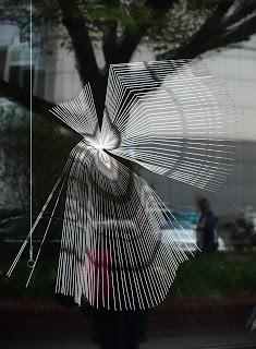 Streifen auf der Fensterscheibe